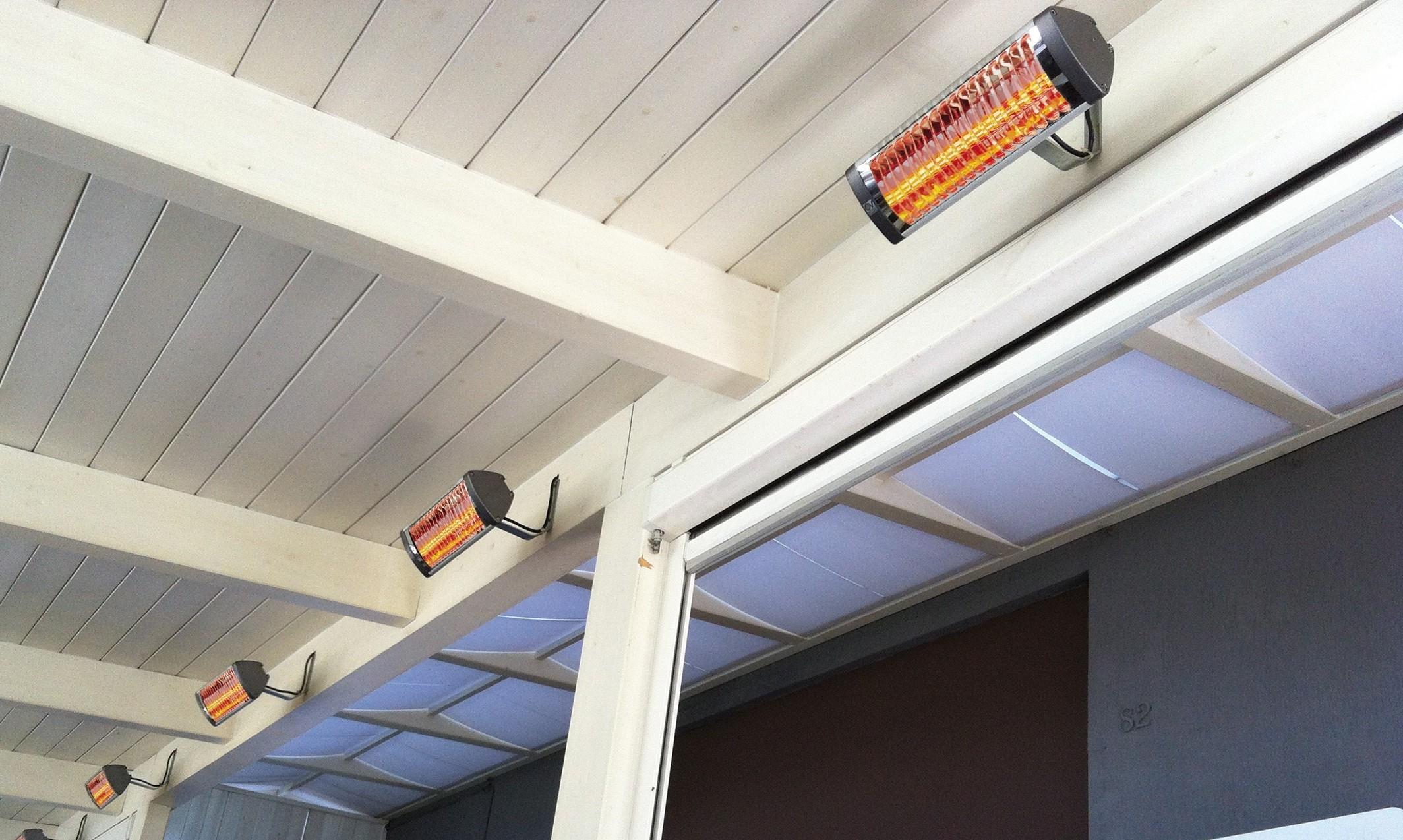 Lampada a infrarossi per esterno e interno elettro for Lampada infrarossi riscaldamento pulcini
