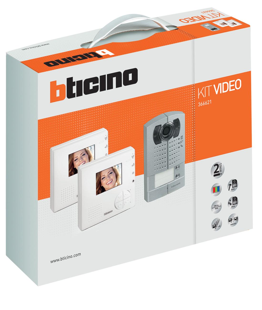 Bticino quattro nuovi kit video citofonici elettro for Citofono bticino prezzo
