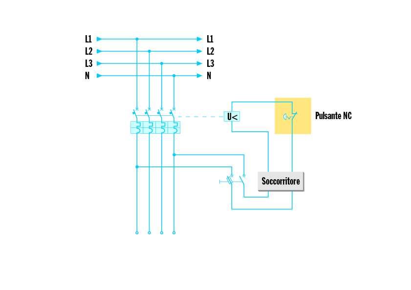 Lo sgancio di emergenza elettro for Teleruttore schema