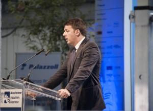 Matteo Renzi presso Palazzoli