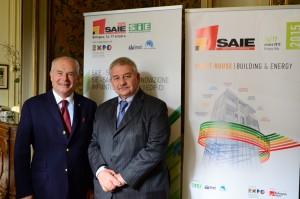 Giuseppe Nardella, Presidente Tecniche Nuove e Senaf (sx) e Duccio Campagnoli, Presidente BolognaFiere