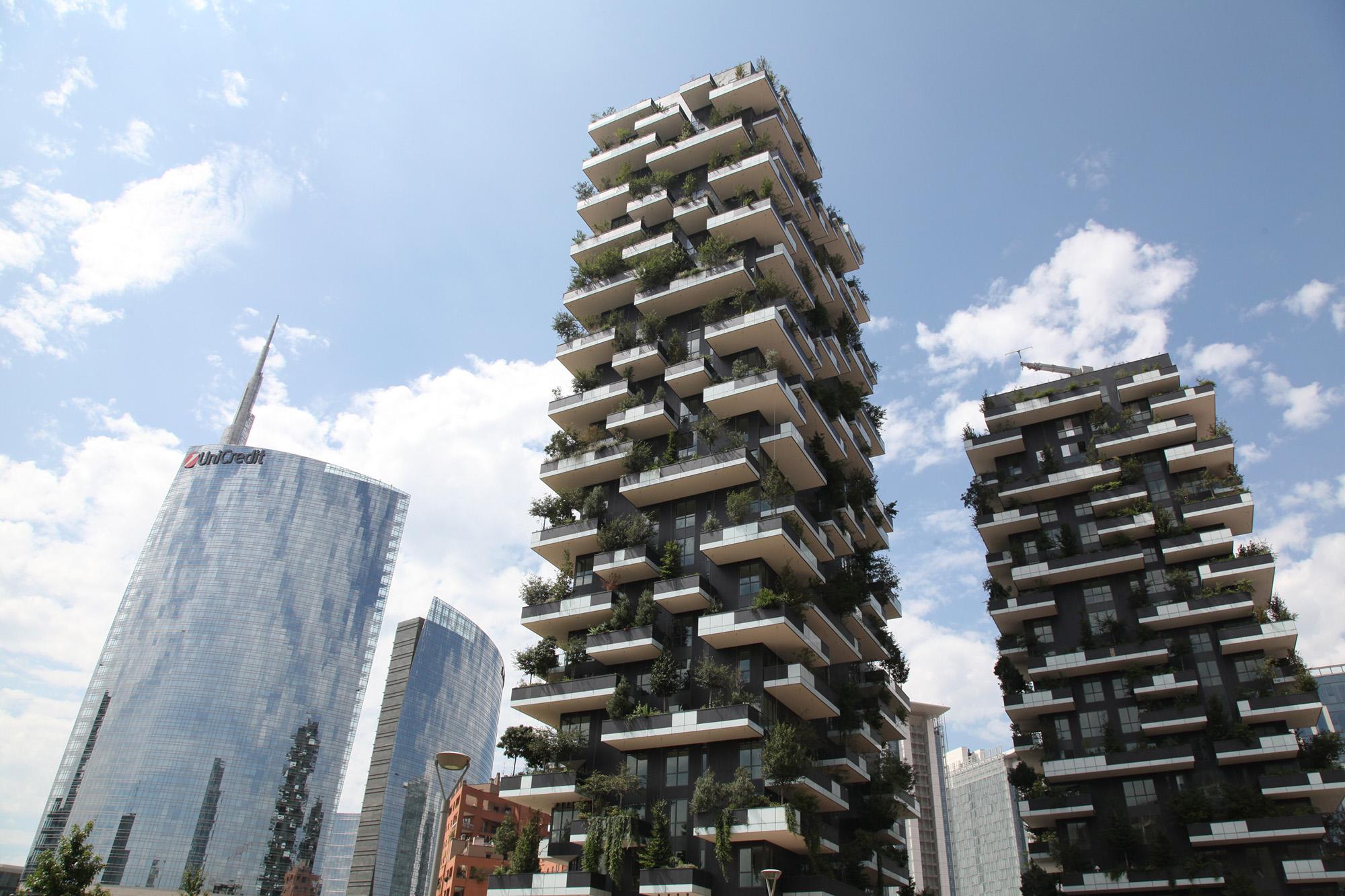 Dispositivi vimar per il il bosco verticale il grattacielo più