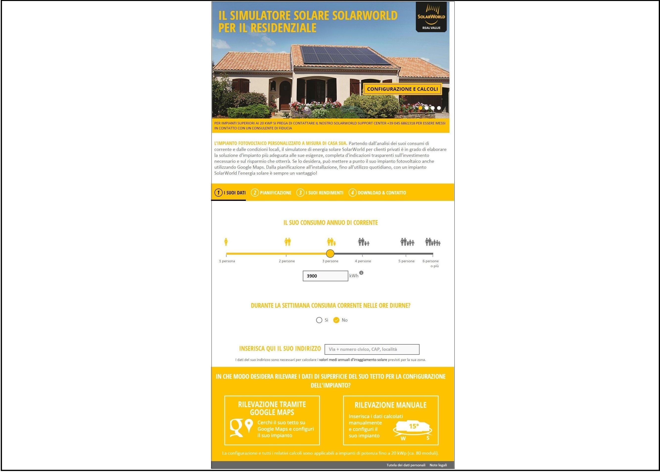 Simulatore online che calcola il risparmio dei costi energetici - Elettro