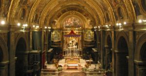 Illuminazione co-cattedrale san Giovanni Malta