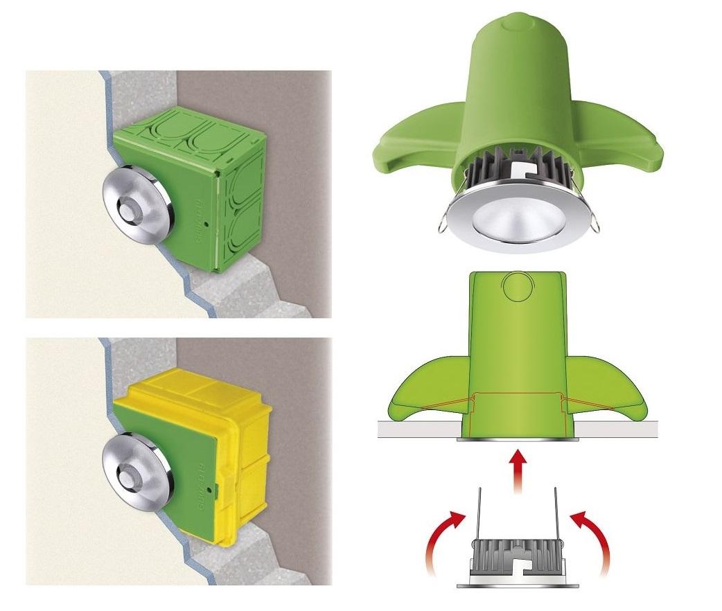 Faretti Da Incasso Legno accessori per installare i faretti da incasso - elettro