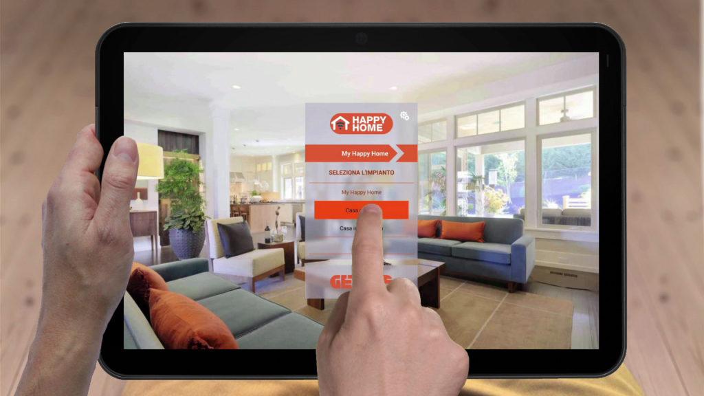 HAPPY HOME è la nuova App di Gewiss per smartphone e tablet per la gestione degli impianti KNX e KNX Easy.