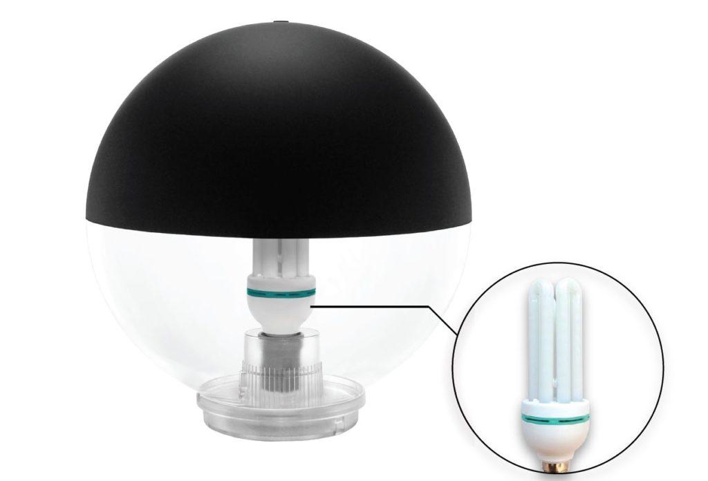 Sistema di illuminazione anti insetti globo no bites elettro