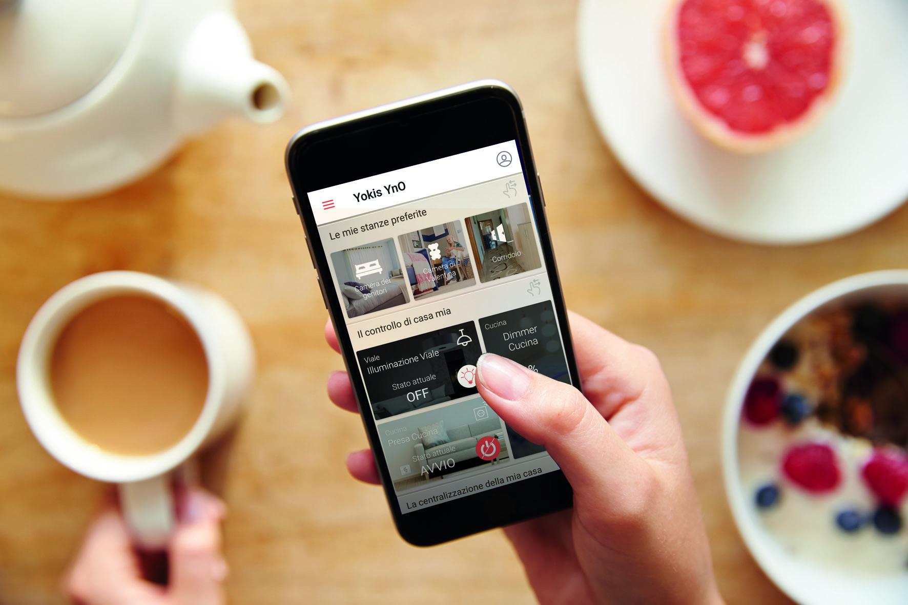 Soluzione smart per la casa app yno di yokis gruppo urmet