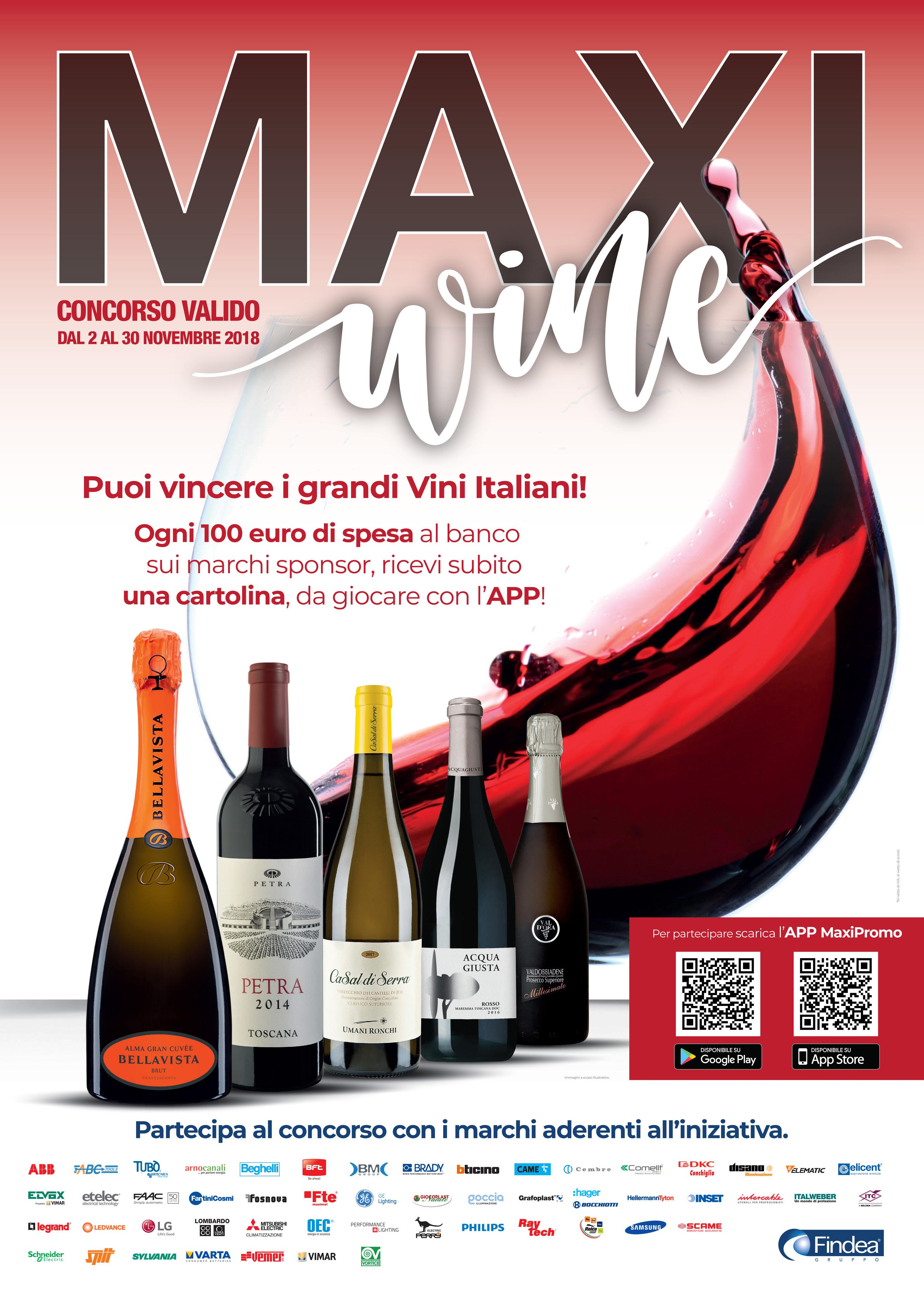 maxi wine concorso findea