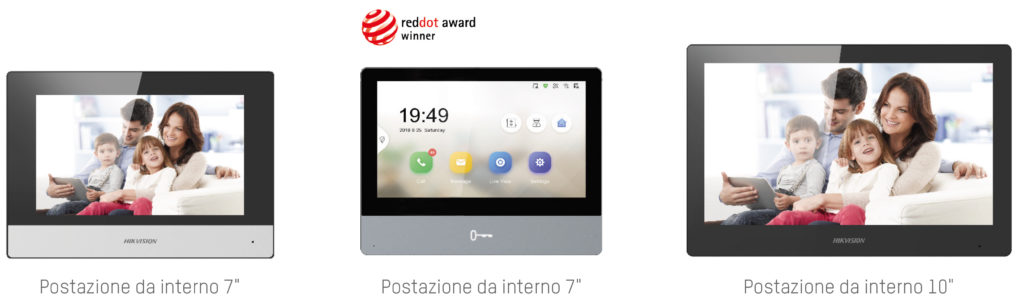 postazioni interne sistema video intercom ip & 2wire hikvision