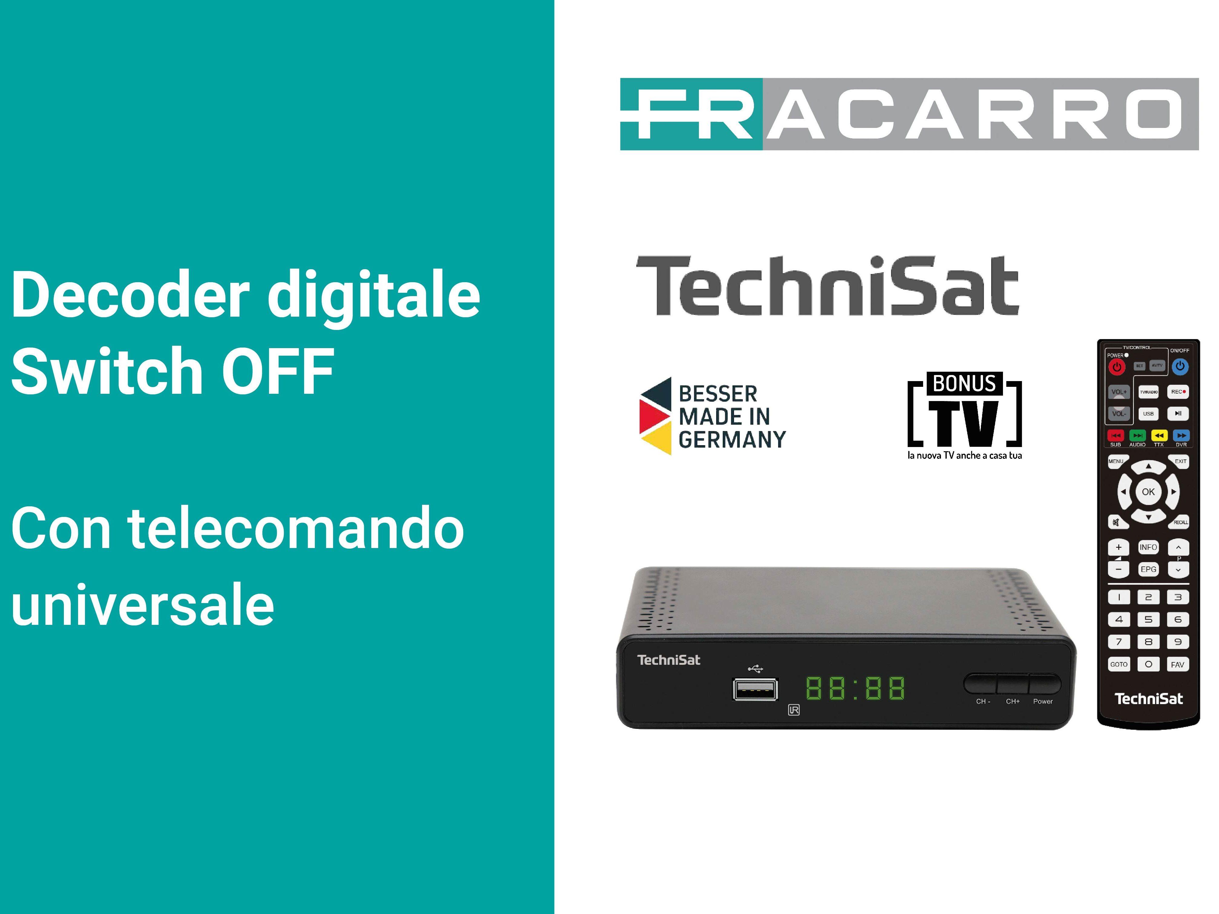 Decoder DVB-T2 Switch OFF TERRABOX T3